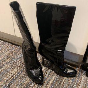 Lanvin patent boots